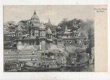 Burning Ghat Benares India Vintage U/B Postcard 373b