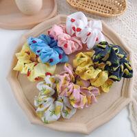 Chiffon Hair Scrunchies Set Elastic Ponytail Hairband Ties Accessories Women Hot