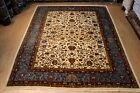 9' x 12' Handmade hand knotted Wool rug, Pictorial floral hunting design