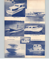 1966 PAPER AD 3 PG Houseboats Trailer trailer Pontoon Craft Jeffboats Lazy Days