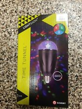 Lightshow Time Tunnel Multicolor RGB LED Projection Light Bulb Halloween Decor