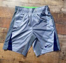 Nike Kids Lacrosse Dry-Fit Print Training Shorts Wolf/Cool Grey/Binary Blue Xs