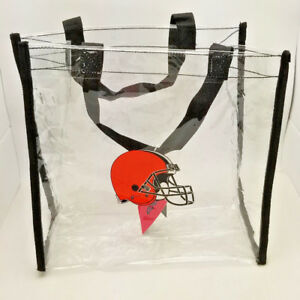 Cleveland Browns Clear Reusable Bag--NFL--Entry Compliant 12 X 12 X 6