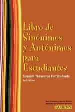 Libro de Sinonimos y Antonimos Para Estudiantes: Spanish Thesaurus For Students