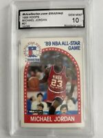 Michael Jordan 1989 NBA  ALL-STAR GAME HOOPS GEM-MT 10 #200 🔥 🔥🔥