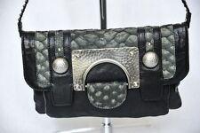 DIANE VON FURSTENBERG *MARLENE* Snakeskin Bag Handbag Purse Convertible Clutch