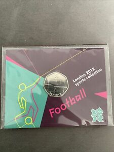 Football 2011 50p Fifty Pence Coin In Official London 2012 Olympic Sealed Card