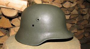 Original-Authentic WW2 WWII Relic Hungarian helmet Wehrmacht Big  Size  68  #1