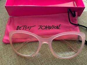 Betsey Johnson Blue Light Blocking Glasses Readers Pink  +2.50 NIBox PD58.5mm
