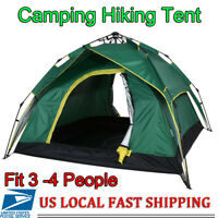 Waterproof Automatic Pop Up Backpacking Outdoor Camping Hiking 3-4 Man Tent