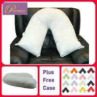 Orthopaedic V Shaped Neck Pillow Fluffy Back Pain Nursing Support + FREE COVER
