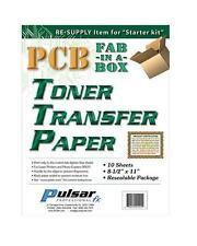 Pulsar Professional FX PCB Toner Transfer Paper (TTP) : 10 Sheets