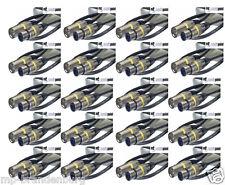 20 x 1m Mikrofonkabel XLR-XLR 3-pol sw MC-1 DMX-Kabel Mikrofon-Kabel