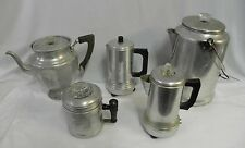 Vintage Aluminum & Stainless Percolators Kitchen & Camping Coffee Pots 0031010