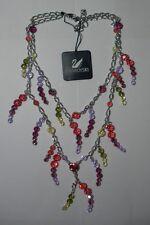 "Necklace / Pendant"" Mint In Box Swarovski Silver Crystal Jewllery Adela Collier"