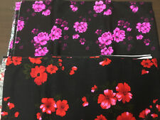 Two Pieces of Vintage Floral Fabric