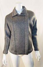 ROBERT RODRIGUEZ Grey Melange Scuba Moto Knit Zip Jacket Coat - Size XS