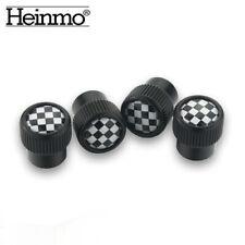 4pcs Checkered Tire Valve Stem Caps Wheel Air Dust Cover Cap Set For MINI COOPER