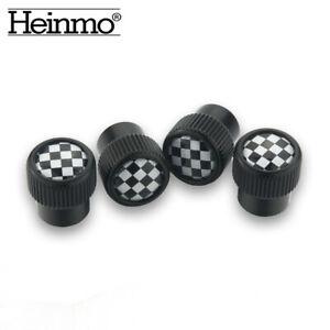 Checkered Universal Car Wheel Tire Valve Caps Stem Air Cap For Mini Cooper S ONE