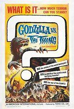 Godzilla vs The Thing Linen-backed Original Poster