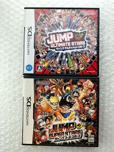 "Jump Ultimate + Super Stars Set ""Good Condition"" Nintendo DS Region Free Japan"