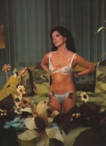 """JOAN COLLINS - 10"""" x 8"""" Colour Photograph in Underwear from FEARLESS FUZZ 1977"""