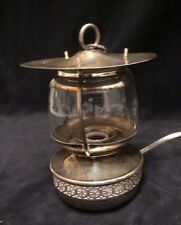 LAMP Antique German Silver and Glass Table or Hanging Lamp