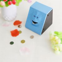 Cute Face Electric Money Saving Boxes Hungry Eating Coin Piggy Bank Kids Gifts