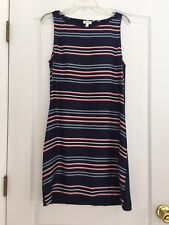 Soft Joie Woman's 100% Silk Front Striped Dress - Navy - Small NWOT