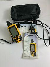 Garmin GPS 60 Navigator Handheld Receiver w/ Case, Belt Clip, Manual BUNDLE