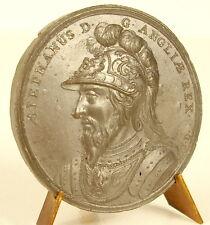 Médaille Roi Étienne de Blois en armure King Stephen in armor Jean Dassier medal