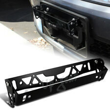 JDM Black Aluminum Bumper Adjustable Tilt License Plate Bracket Kit Universal 5