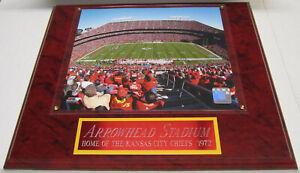 ARROWHEAD STADIUM KANSAS CITY CHIEFS FRAMED 8X10 PHOTO-MAN CAVE ART-12X15 PLAQUE