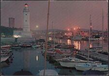 AA7777 Rimini - Porto Canale e Darsena - Notturno - Cartolina postale - Postcard