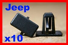 10 Jeep Cherokee rocker panel sill cover panel lining fastener clips auto