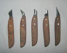 Paragon Crafts Elite Handyman Wood Chip Carving 5pc Knife Set, Rosewood Handles