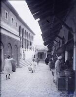 TUNISIE Kasbah de Tunis c1900, NEGATIF Photo Stereo Plaque Verre L10n15