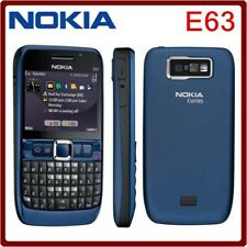 USED UNLOCKED BLUE NOKIA E63-2 CELL PHONE GSM SMARTPHONE FIDO ROGERS CHATR AT&T+