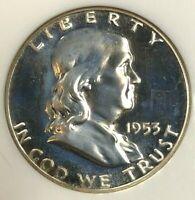 1953 NGC PF66 Cameo Silver Proof Franklin Half Dollar ~ RARE Hi-Grade Cameo!