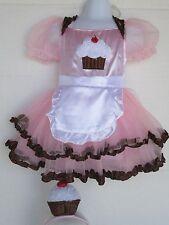 Girls Cupcake Costume Tutu Dress Headband  Size 2T