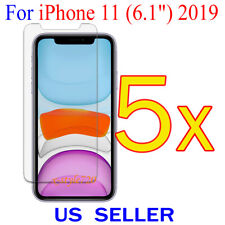 """5x Clear Screen Protector Guard Cover Film For Apple iPhone 11 ( 6.1"""" )  2019"""