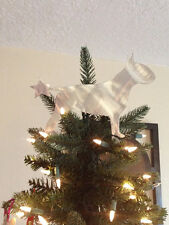 English Bull Terrier, Dog Christmas Tree Topper, Wreath Decor, Dog Gift, Silver