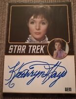 STAR TREK 50th ORIGINAL SERIES 50TH ANNIV TOS KATHRYN HAYS GEM  AUTOGRAPH CARD