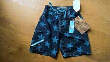 BNWT Designer Havacoa Navy Turquoise Blue Star Net Lined Swim Shorts 0-2y 92cm