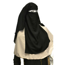 Hayaa THREE X-LARGE Layers Black Saudi Niqab Hijab Islamic Clothing