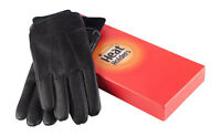 Heat Holders - Mens Black Thermal Gift Boxed 100% Real Leather Gloves, 2 Sizes