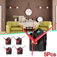 5x Long Red Hands Wall Quartz Clock Spindle Movement Mechanism DIY Repair Tools
