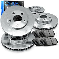 2004-2010 Toyota Sienna Full Kit eLine Plain Brake Disc Rotors & Ceramic Pads
