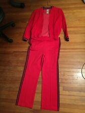 VINTAGE Adidas Men's Red + Blue Tracksuit ( 70s - 80s ), Used Condition