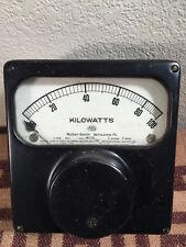 Antique Roller Smith Co KiloWatts Meter Gauge Steampunk Prop Sci Fi Industrial